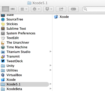 transitioning bewteen xcode versions